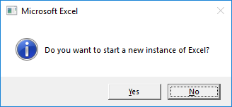 Starting a new instance of Excel